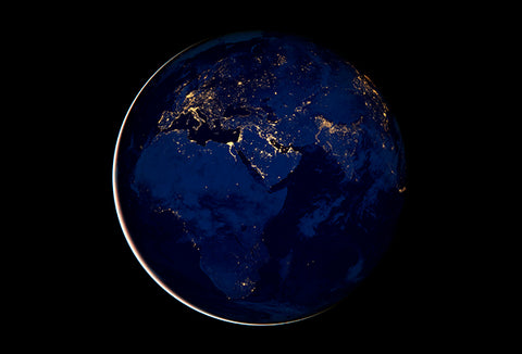 Europe, Africa, Middle East At Night - NASA Photo Poster