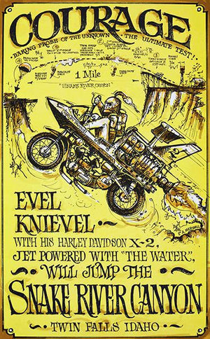Evel Knievel - 1971 - Courage - Snake River Canyon - Promotional Magnet