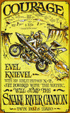 Evel Knievel - 1971 - Courage - Snake River Canyon - Promotional Poster