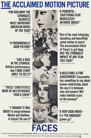 Faces - 1968 - Movie Poster