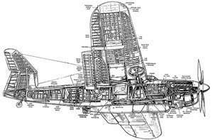 Fairey Barracuda - Torpedo Bomber - Cutaway Drawing Poster