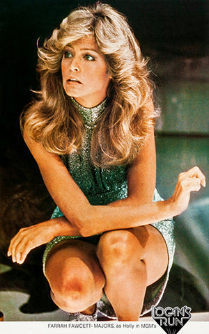 Farrah Fawcett-Majors - Logan's Run - 1976 -  Promotional Magnet