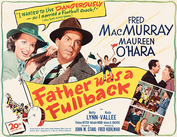 Father Was A Fullback - 1949 - Movie Poster Magnet