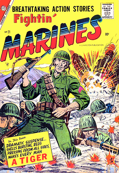 Fightin' Marines - #21 May 1957 - Comic Book Cover Poster
