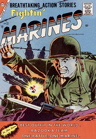 Fightin' Marines - #22 August 1957 - Comic Book Cover Poster
