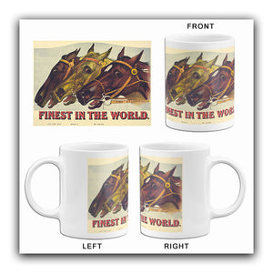 Finest In The World - 1885 - Horse Racing Mug