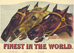 Finest In The World - 1885 - Horse Racing Magnet