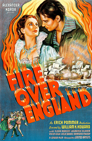 Fire Over England - 1937 - Movie Poster