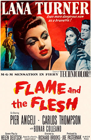 Flame And The Flesh - 1954 - Movie Poster Magnet