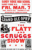 Flatt & Scruggs - 1969 - Sandy Ridge NC - Show That Never Happened - Concert Poster Mug