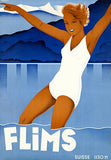 Flims - Switzerland - 1930's - Travel Poster Mug