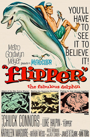 Flipper - 1963 - Movie Poster Magnet