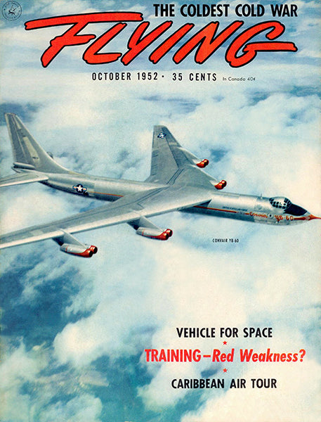 Flying - October 1952 - Convair YB-60 - Magazine Cover Poster