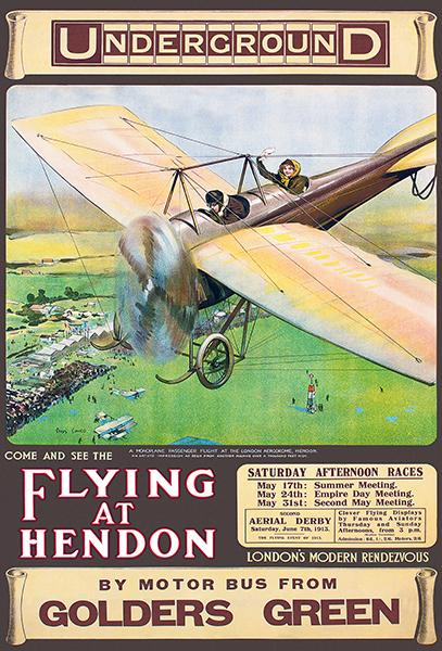Flying At Hendon - 1913 - England - Air Races - Event Mug