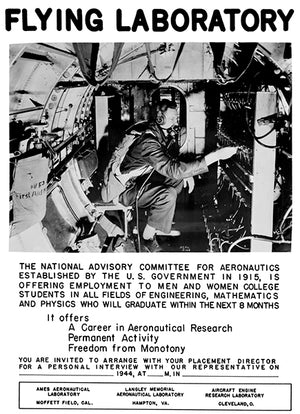 Flying Laboratory - US Committee For Aeronautics - 1944 - Recruitment Poster