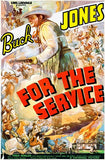 For The Service - Buck Jones - 1936 - Movie Poster Mug