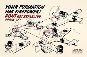 Formation Has Firepower - 1944 - Training Aids Aviation Poster