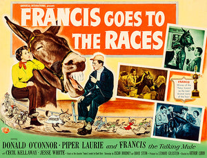 Francis Goes To The Races - 1951 - Movie Poster Magnet