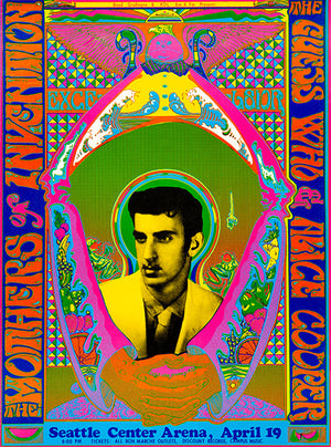 Frank Zappa & The Mother's Of Invention - Seattle WA - 1969 - Concert Poster