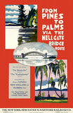 From Pines To Palms Via Hell Gate Bridge - Hartford Railroad - 1924 - Travel Poster Mug