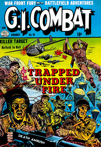 G. I. Combat #16 - August 1954 - Comic Book Cover Poster