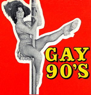 Gay 90's Saloon - 1950's - Beverly Hills CA - Matchbook Advertising Poster