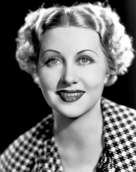 Genevieve Tobin - Movie Star Portrait Poster
