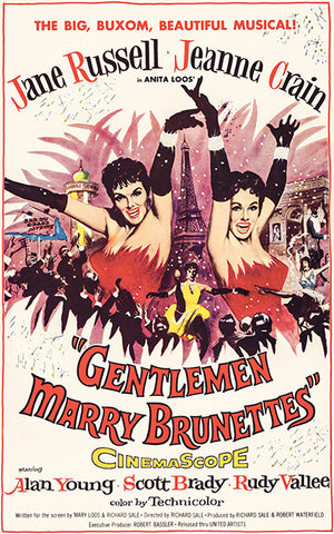 Gentlemen Marry Brunettes - 1955 - Movie Poster