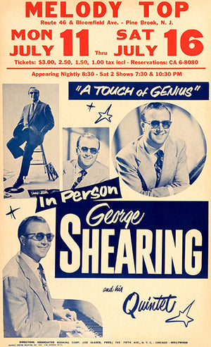George Shearing With His Quintet - 1960 - Pine Brook NJ - Concert Poster