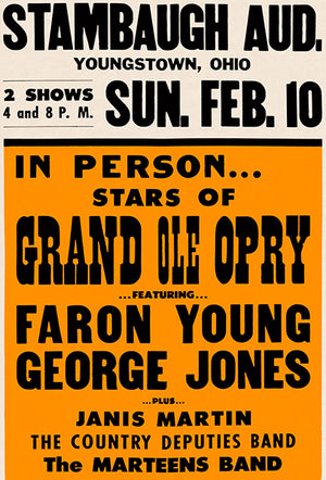 George Jones - 1957 - Grand Ole Opry - Concert Poster