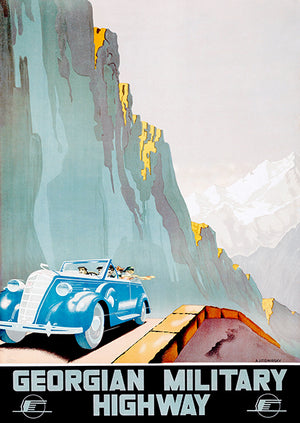 Georgian Military Highway - USSR - 1939 - Intourist - Travel Poster