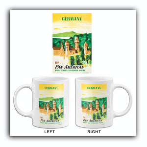 Germany - Fly Pan American - 1950's - Travel Poster Mug