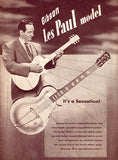 Gibson Les Paul - 1952 - Promotional Advertising Poster