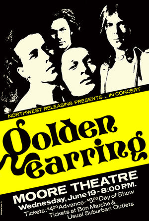 Golden Earring - 1974 - Seattle WA - Concert Poster