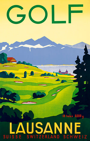 Golf - Lausanne, Switzerland - 1936 - Travel Poster Mug