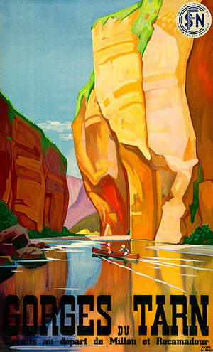 Gorges du Tarn - France - 1937 - Travel Poster