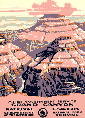 Grand Canyon National Park - 1938 - Travel Poster Magnet