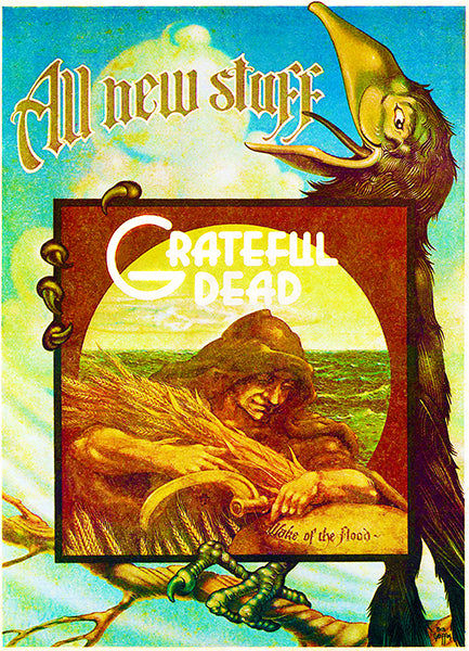 Grateful Dead - Wake of the Flood - 1973 - Album Release Promo Poster