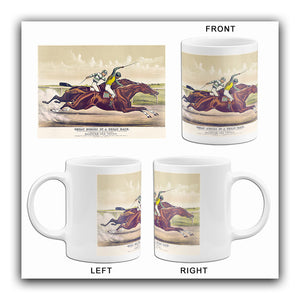 Great Horses In A Great Race - Salvator & Tenny - 1891 - Horse Racing Mug