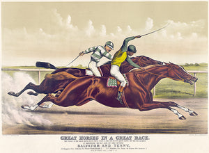 Great Horses In A Great Race - Salvator & Tenny - 1891 - Horse Racing Poster
