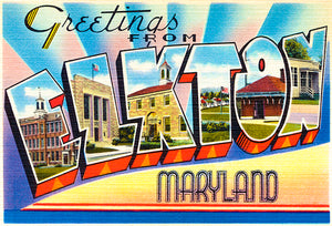 Greetings From Elkton, Maryland - 1930's - Vintage Postcard Poster
