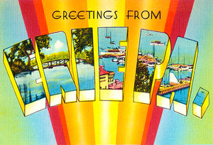 Greetings From Erie, Pennsylvania - 1930's - Vintage Postcard Poster
