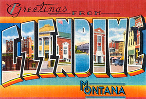 Greetings From Glendive, Montana - 1930's - Vintage Postcard Magnet