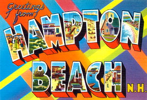 Greetings From Hampton Beach, New Hampshire - 1930's - Vintage Postcard Magnet