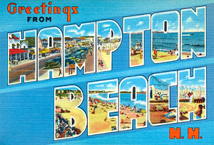 Greetings From Hampton Beach, New Hampshire #2  - 1930's - Vintage Postcard Magnet