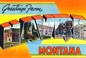 Greetings From Havre, Montana - 1930's - Vintage Postcard Magnet