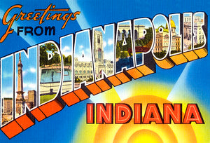 Greetings From Indianapolis, Indiana - 1930's - Vintage Postcard Magnet