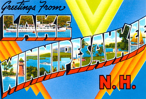 Greetings From Lake Winnipesaukee, New Hampshire #3 - 1930's - Vintage Postcard Magnet