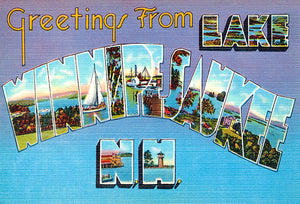 Greetings From Lake Winnipesaukee, New Hampshire #4 - 1930's - Vintage Postcard Magnet