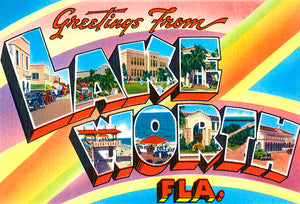 Greetings From Lake Worth, Florida - 1930's - Vintage Postcard Magnet